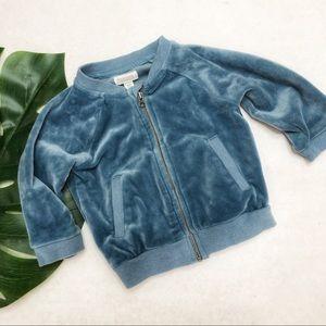 Gymboree Aqua Velvet Jacket Size 6-12 Months